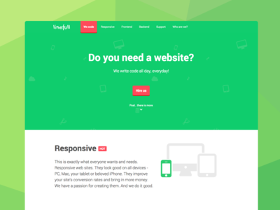 Simple landing page for Web Dev Agency