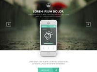 Landing page   sunset weather app %28rainning%29