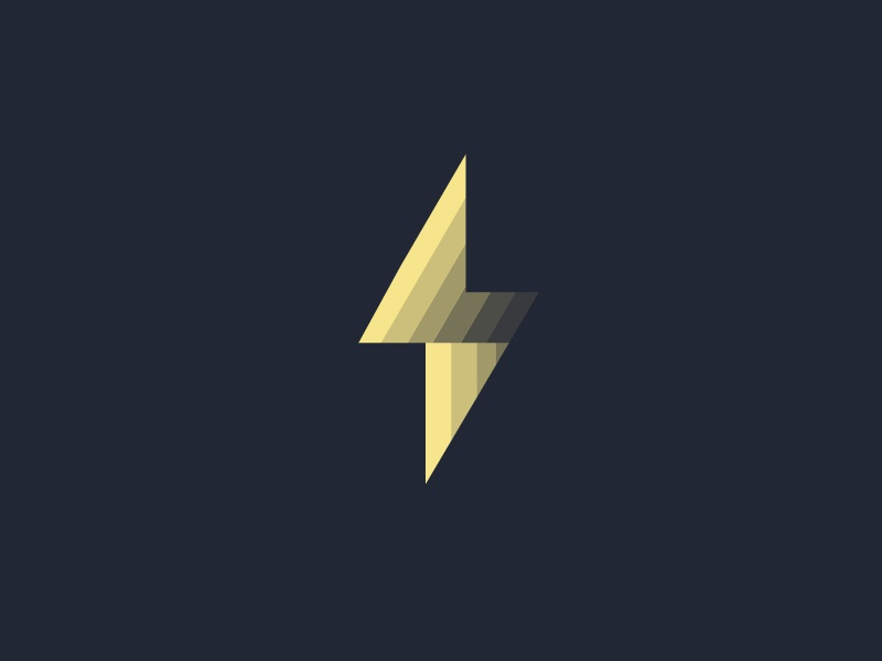 Themderbolt Logo logo thunder flat gradient