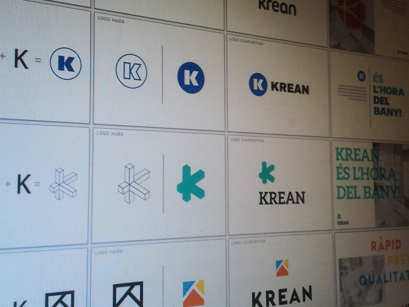 Krean Logo Exploration logo k