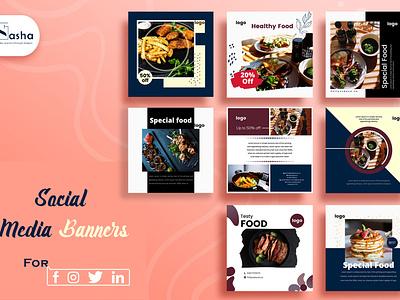 Social media banner flyer design brochure design business card design illustration social media design graphic design creative design branding template design adobe photoshop adobe illustrator