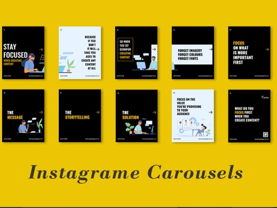 Intagrame Carousels poster design business card business card design carousel creative design flyer design brochure design branding template design adobe photoshop adobe illustrator