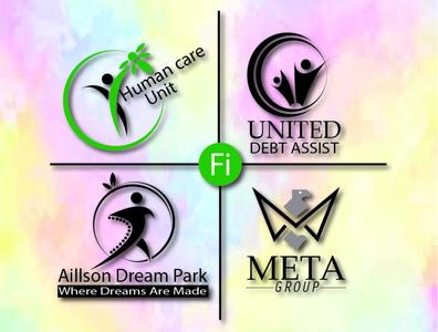Unique Minimalist Logo Design fashion illustration animation design boutique logo branding logo flat animation design 3d icon