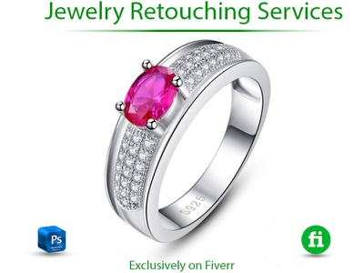 Jewelry retouch in photoshop motion graphics 3d illustrator