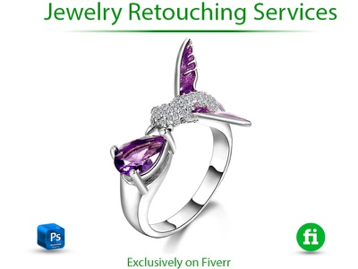 High end jewelry retouch graphic design 3d illustrator