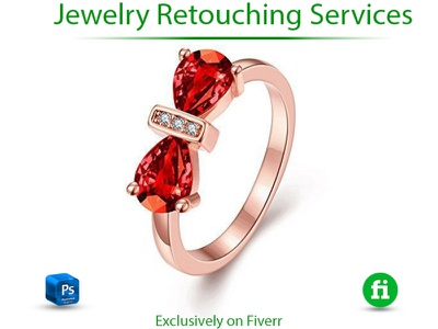 High end jewelry retouch animation vector ui illustration branding design flat logo animation design icon 3d