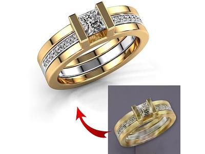 High end jewelry retouch ui vector illustration branding design flat logo animation design icon 3d