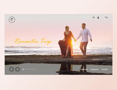 Romantic Trip mockup mockup design banner design banner minimal website ux ui art web design