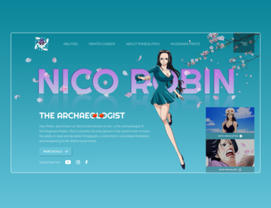 Nico Robin akuma no ko nico robin one piece mockup mockup design banner design banner website ux ui art web design