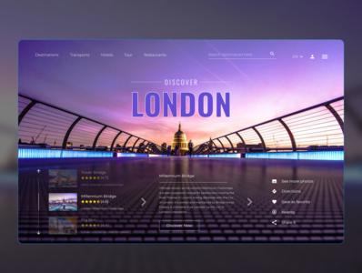 London london mockup design banner design banner minimal website ux ui art web design