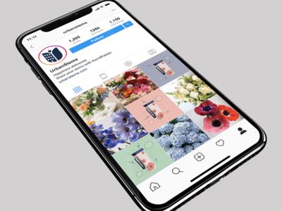 Urban Stems floral marketing branding illustration graphic design social media