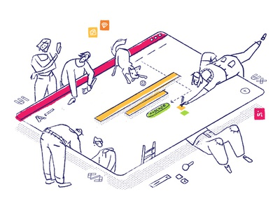 How we work ui ux illustration character design