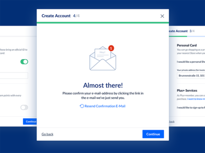 Sign Up Interface steps progress wizard illustration icon clean modal form sign-up sketch ui interface