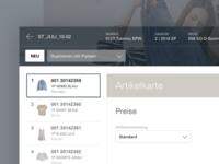 Fashion Retailer Interface