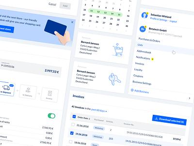 Design System Sneak Peek ux app clean pattern kit web icon design ui interface