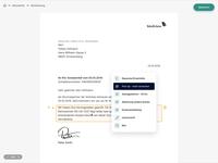 Interactive Document Editor Prototype generator editor pdf document list view ux ui figma prototype list flat hover dropdown desktop data clean application