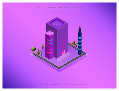 Isometric 3D Design Single Building pervezpjs illustration art perevezjoarder graphic designers graphic designer illustration city illustration 3d design