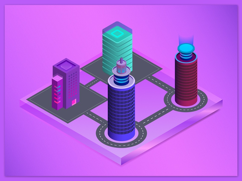 Isometric 3D City Design photo editing social media design logo designer city illustration colorful design 3d design graphic designer pervezjoarder pervezpjs illustraion