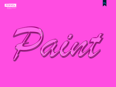Paint Text Effect pervez graphic designer pjs pervezjoarder pervezpjs pervez graphic paint text effect