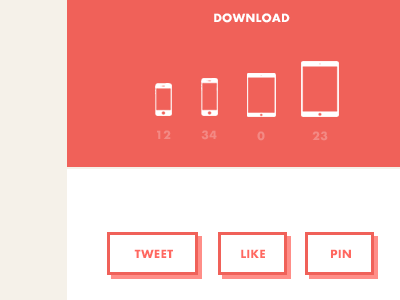 Download / Tweet / Like / Pin download iphone ipad iphone5 ipad mini icon tweet like pin facebook twitter pinterest button ui user interface ux user experience