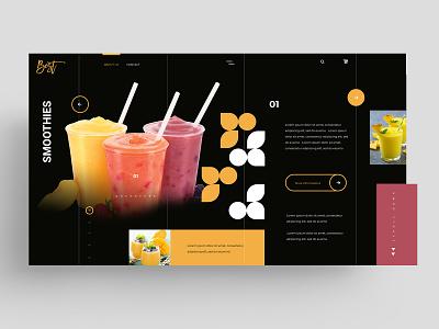 WEB - SMOOTHIES typography app smoothies web ui ux identity icon marks illustration symbol design