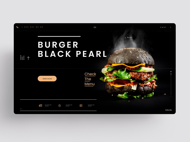 WEBSITE - BURGER MENU