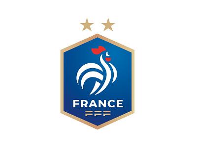 NEW LOGO DE L'EQUIPE DE FRANCE france french team blue football foot rooster mark branding animal identity icon marks illustration symbol logo design