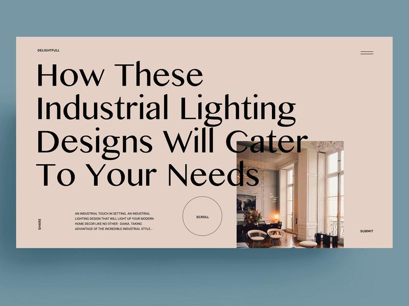 INDUSTRIAL LIGHTING - WEBDESIGN