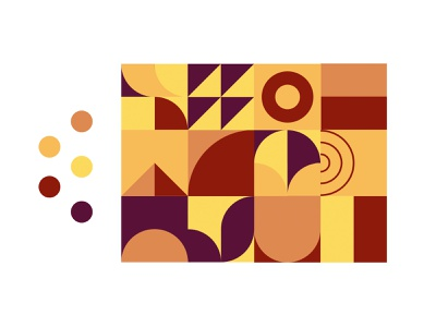 PATTERN - COLOR - TEST #4 sketch xd figma abstract simple brown yellow color pattern black mark branding animal identity icon marks illustration symbol logo design