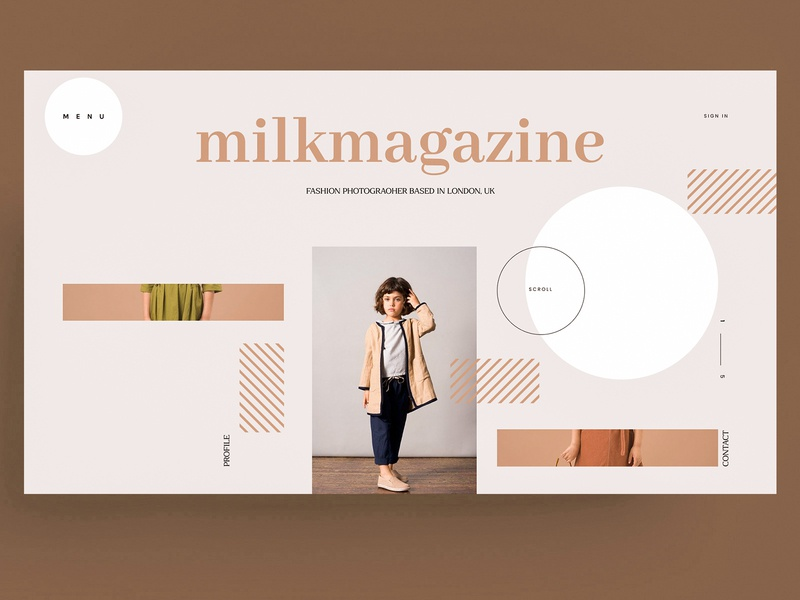 WEBSITE - MODEL girl magazine xd sketch figma ui ux black mark branding animal icon identity marks illustration symbol logo design