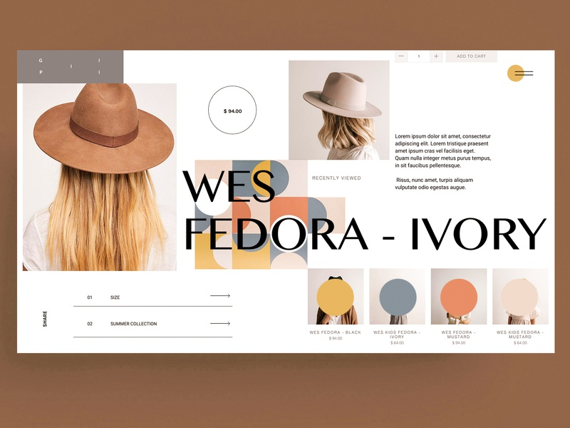 WEBSITE - SHOP - HAT women ux grid template xd figma shop ecommerce hat invision sketch animal branding identity icon marks illustration symbol design