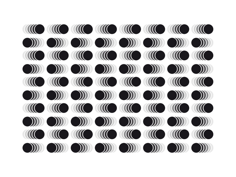 PATTERN - ILLUSION - CERCLE - TEST cercle abstract illusion pattern black mark animal branding identity icon marks illustration symbol logo design