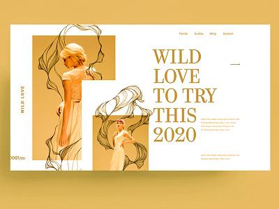 WEBSITE - WILD LOVE love gold yellow wild template web identity xd sketch figma ui ux design