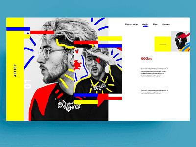 WEBDESIGN - ARTIST webdesign digital artist art red blue template figma xd sketch ui ux design