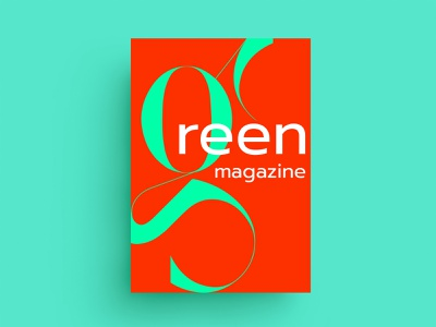 GREEN MAGAZINE - LAYOUT letter monogram red lettering layout magazine green cover mark animal branding typography identity icon marks illustration symbol logo design