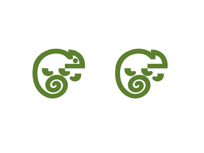 CHAMELEON - LOGO animals green lizard jungle mark animal branding identity icon marks illustration symbol logo design