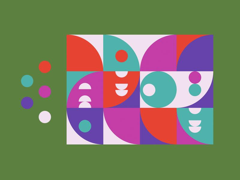 PATTERN - 5 orange blue red green gradient color pattern black mark animal branding identity icon marks illustration symbol logo design