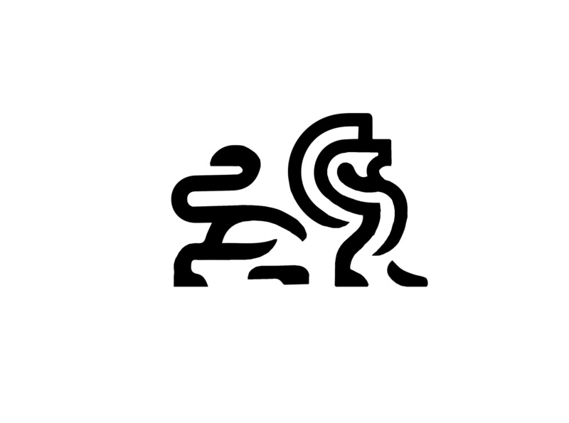 LOGO - LEO - SKETCH leo black mark animal branding identity icon marks illustration symbol logo design