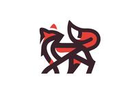 FOX - LOGO fox mark animal branding identity icon marks illustration symbol logo design