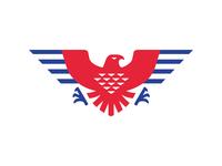 LOGO EAGLE falcon eagle black mark animal branding identity icon marks illustration symbol logo design