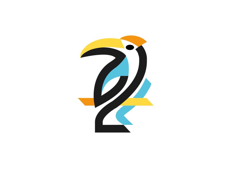 LOGO - TOUCAN jungle toucan black mark animal branding identity icon marks illustration symbol logo design