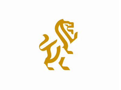 SKETCH - LOGO lion animals gold symbole leo black mark animal branding identity icon marks illustration symbol logo design