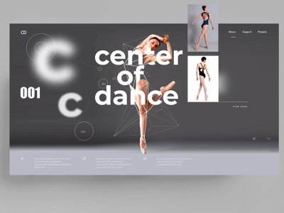 WEBDESIGN - CENTER OF DANCE figma xd web app sketch ui ux mark animal branding identity icon marks illustration symbol logo design