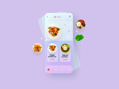 APP-FOOD sketch figma xd ui ux app food mark animal branding identity icon marks illustration symbol logo design
