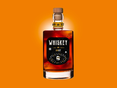 WHISKEY - PACKAGING packaging whiskey black mark animal branding identity icon marks illustration symbol logo design