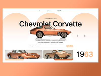 CHEVROLET - CORVETTE ui ux chevrolet retro car xd sketch figma mark animal branding identity icon marks illustration symbol logo design