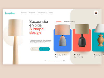 WEBDESIGN - LAMP decoration lamp figma sketch xd web app typography identity icon marks illustration symbol logo design