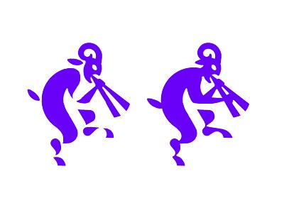 FAUNE - LOGO satire mythology fauno faune satyre mark animal branding identity icon marks illustration symbol logo design