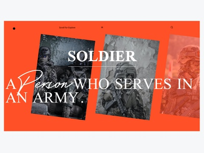 TEST - WEBDESIGN - SOLDIER figma ux soldier wars vector branding logo ui identity icon marks illustration symbol design