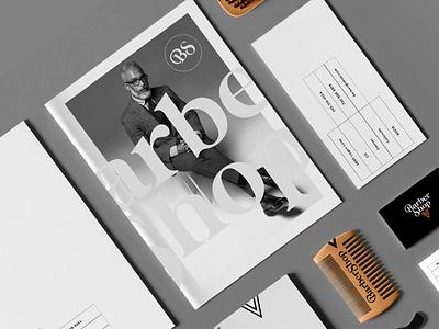 BARBER SHOP - BRANDING mark packaging product shop barber identity icon marks illustration symbol logo design